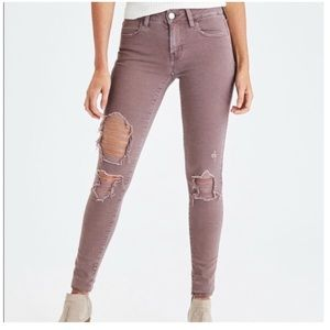 AEO Super Stretch X Destroyed Jeans